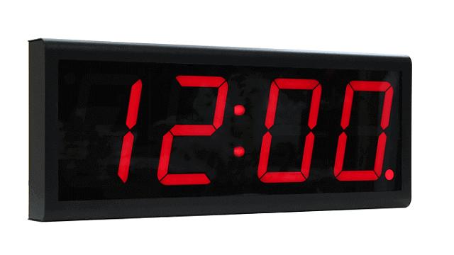 PoE digital clock